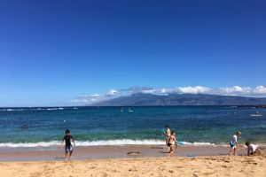 Kapalua Beach, Kapalua Coastal Trail, Honokahua, Kapalua, Maui County, Hawaii, USA