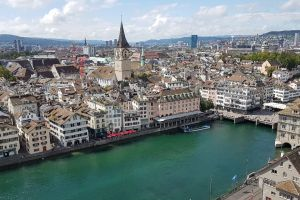 Grossmünster, Grossmünsterplatz, Rathaus, Altstadt, Zurich, District Zurich, Zurich, 8001, Switzerland