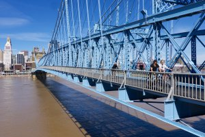 30 John A. Roebling Suspension Bridge, Covington, KY 41011, USA