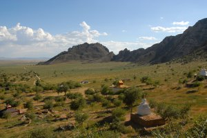 Road to Erdene Khamba Ovgon Manastery, Mongolia