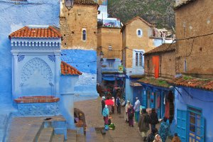 Photo taken at Rue Ibn Asskar, Chefchaouen, Morocco with SONY DSC-H3