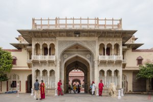 Photo taken at Mubarak Mahal., J.D.A. Market, Pink City, Jaipur, Rajasthan 302002, India with Canon EOS 6D