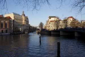 Photo taken at Halvemaansbrug, Amsterdam, Netherlands with Canon EOS 1100D