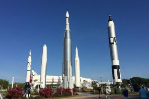 Mercury-Atlas Rocket, Bus Drop-Off, John Fitzgerald Kennedy Space Center, Orsino, Brevard County, Florida, USA