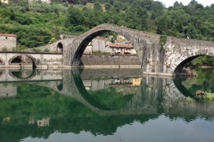 Photo taken at Str. dell'Abetone e del Brennero, 1, 55023 Borgo a Mozzano LU, Italy with Apple iPhone 5