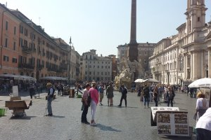 Photo taken at Piazza Navona, 75, 00186 Roma, Italy with Samsung SGH-I337