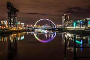 Photo taken at Bell's Bridge, Glasgow, Glasgow City G51, UK with SONY ILCE-7