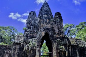 South Gate Bridge, Krong Siem Reap, Cambodia
