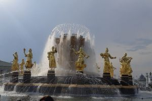 People's Friendship Fountain, Main Alley, Trade Fair Moscow, All-Russia Exhibition Centre, Ostankinsky District, North-Eastern Administrative Okrug, Moscow, Central Federal District, 129515, Russia